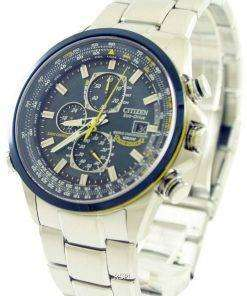 Citizen World Chronograph AT8020-54L Eco-Drive Blue Angels Radio Controlled Mens Watch