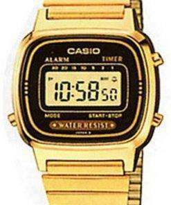 Casio Digital Stainless Steel Alarm Timer LA670WGA-1DF LA670WGA-1 Womens Watch