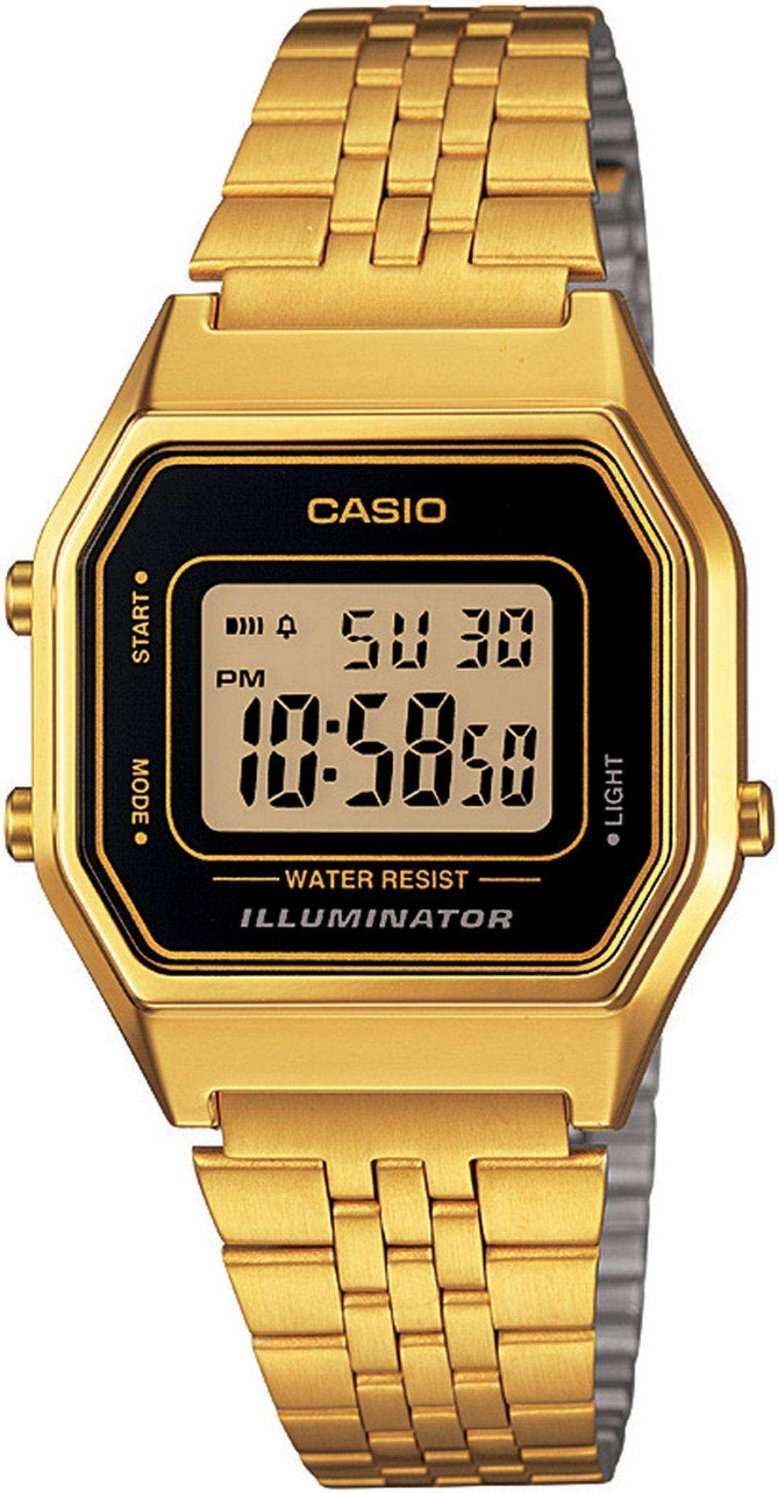 55b953a12 Casio Digital Quartz Stainless Steel Illuminator LA680WGA-1DF LA680WGA-1 Womens  Watch