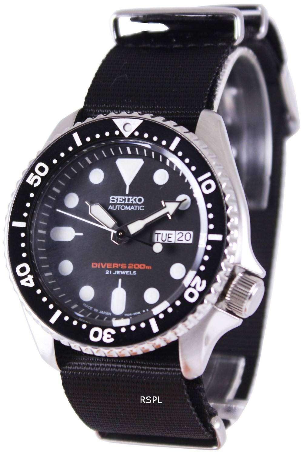 Seiko Automatic Diver's 200M NATO Strap SKX007J1-NATO4 ...