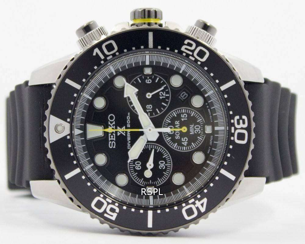 new concept 9dc23 72110 Seiko Solar Chronograph SSC021P1 Mens Watch