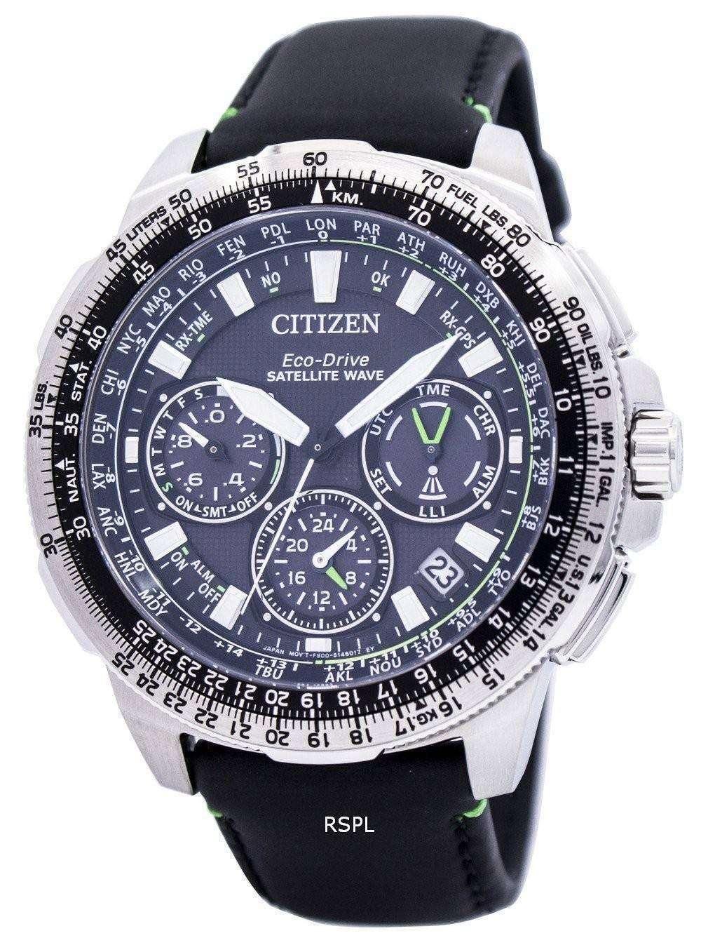 8677eb8d4a4 Citizen Eco-Drive Satellite Wave Promaster Navihawk GPS CC9030-00E Mens  Watch 1 ...