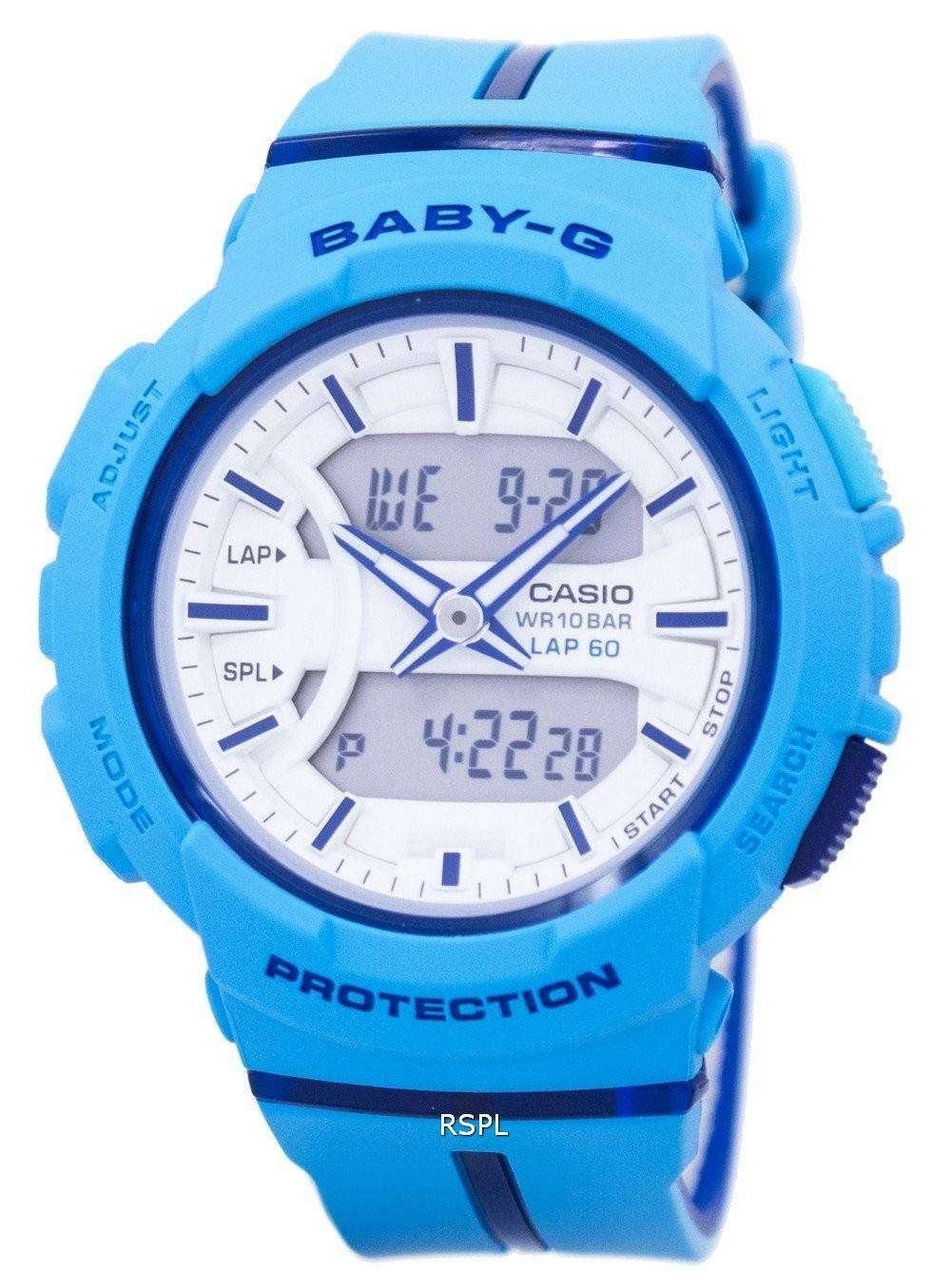 2f899f406e54 Casio Baby-G Shock Resistant Dual Time Analog Digital BGA-240L-2A2 Women s  ...
