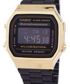 Casio Vintage Chronograph Alarm Digital A168WEGB-1B Unisex Watch