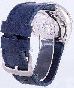 Seiko Automatic SKX007J1-LS13 Diver's 200M Japan Made Blue Leather Strap Men's Watch