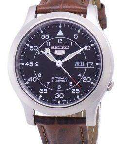 Seiko 5 Military SNK809K2-SS2 Automatic Brown Leather Strap Men's Watch