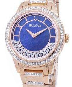 Bulova Crystal TurnStyle 98L247 Quartz Diamond Accents Women's Watch