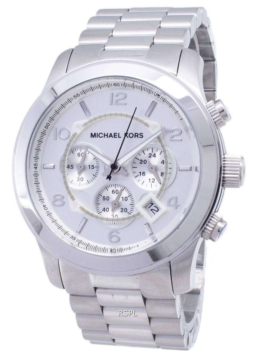 9253bd5be86a Michael Kors Silver Runway MK8086 Mens Watch - CityWatches IN