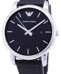 Emporio Armani Classic Black Dial Black Leather AR1692 Mens Watch