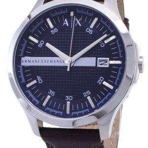0f2aa47b186b Armani Exchange Quartz Navy Dial Brown Leather Strap AX2133 Men s Watch  Armani Exchange Quartz ...