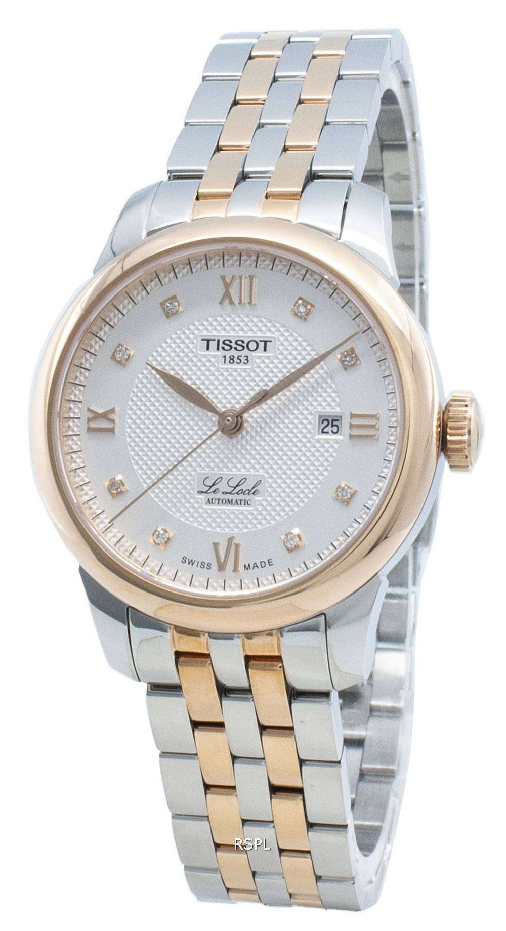 Tissot Le Locle T006.207.22.036.00 T0062072203600 Diamond Accents Automatic Women's Watch