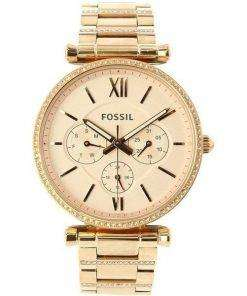 Fossil Carlie ES4542 Diamond Accents Quartz Women's Watch