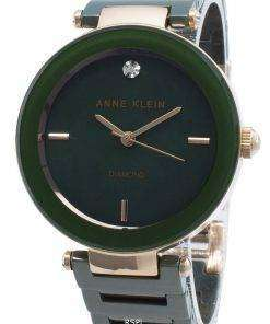 Anne Klein 1018RGGN Diamond Accents Quartz Women's Watch