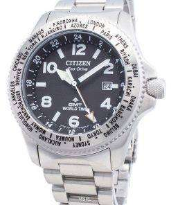 Citizen PROMASTER Eco-Drive BJ7100-82E World Time 200M Men's Watch