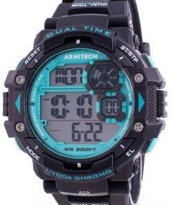Armitron Sport 408309BTL Quartz Dual Time Men's Watch