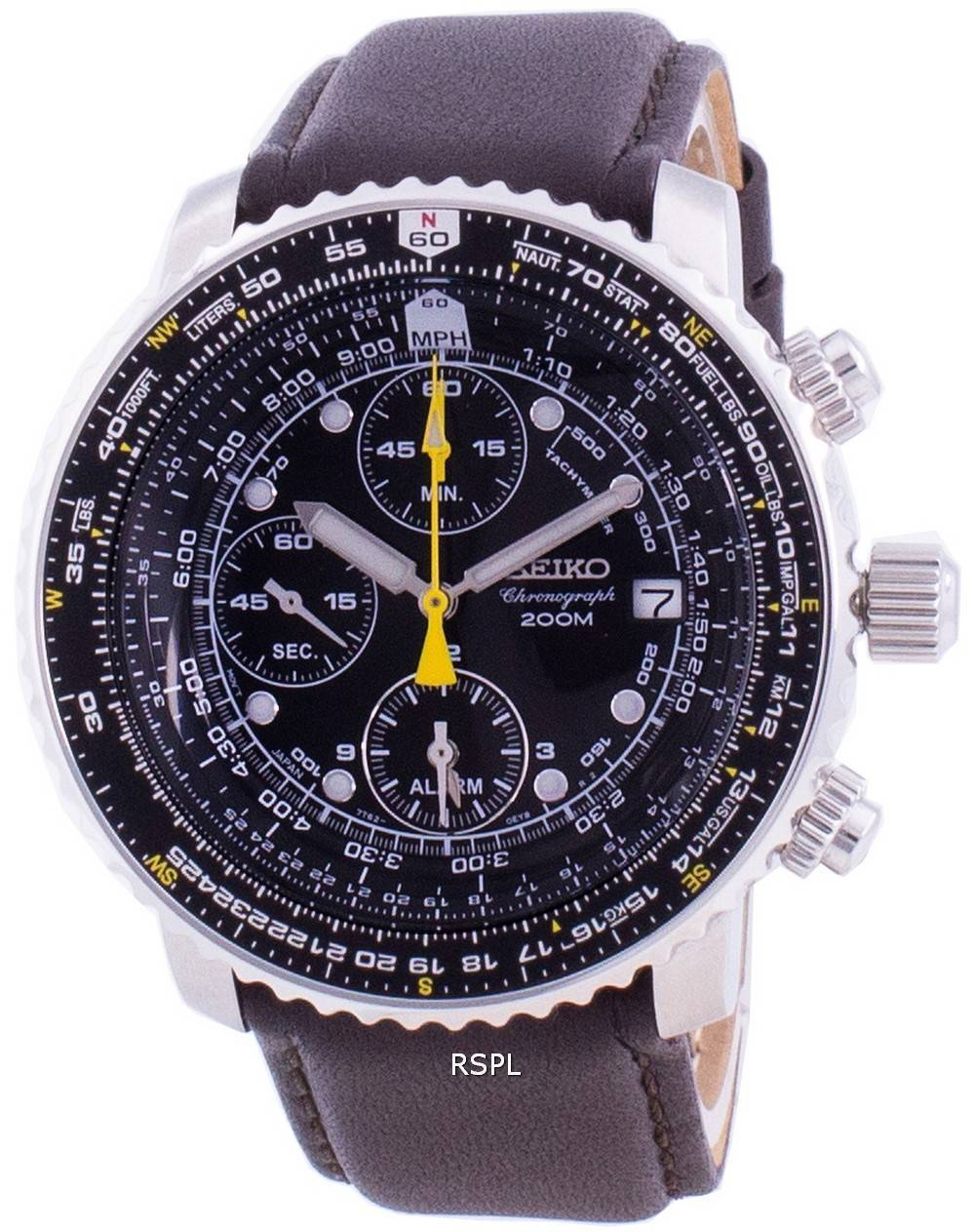 Seiko Pilot's Flight SNA411P1-VAR-LS11 Quartz Chronograph 200M Men's Watch