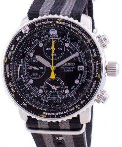 Seiko Pilot's Flight SNA411P1-VAR-NATO1 Quartz Chronograph 200M Men's Watch