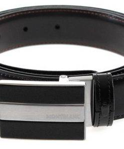 Montblanc 112962 Meisterstuck Reversible Black/Brown Men's Leather Belt