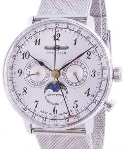 Zeppelin Hindenburg LZ129 7036M-1 7036M1 Quartz Moon Phase Men's Watch