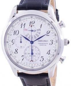 Seiko Chronograph Perpetual SPC253 SPC253P1 SPC253P Quartz Tachymeter Men's Watch
