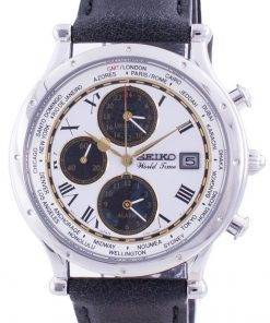 Seiko 30th Anniversary Age Of Discovery World Time SPL055P SPL055P1 SPL055P Quartz Chronograph Limited Edition Men's Watch