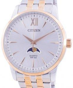 Citizen Moonphase Silver Dial Quartz AK5006-58A Men's Watch