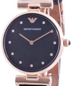 Emporio Armani Gianni T-Bar Black Dial Quartz AR11296 Womens Watch