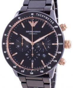 Emporio Armani Ceramica Mario Chronograph Quartz AR70002 Mens Watch