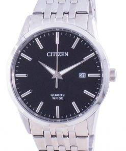 Citizen Black Dial Stainless Steel Quartz BI5000-87E Men's Watch