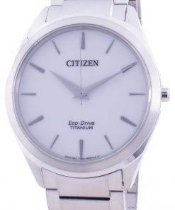 Citizen White Dial Titanium Bracelet Eco-Drive BJ6520-82A Men's Watch