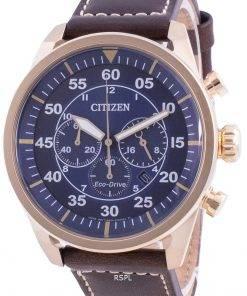 Citizen Chronograph Calf Leather Eco-Drive CA4213-26L 100M Men's Watch