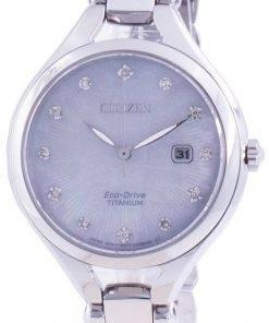 Citizen Super Titanium Diamond Accents Eco-Drive EW2560-86D Women's Watch