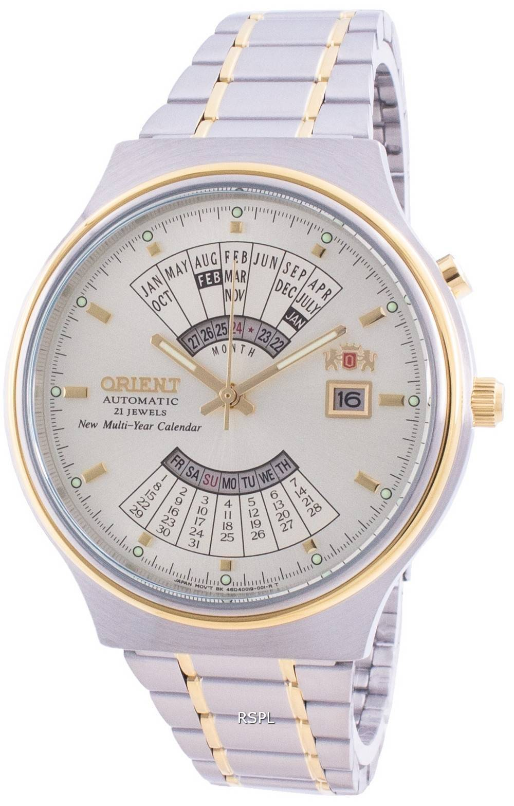 Orient Mechanical Contemporary FEU00000CW Multi-Year Calendar Men's Watch