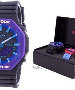 Casio G-Shock World Time Quartz GA-2100THS-1A GA2100THS-1A With Gift Set 200M Men's Watch