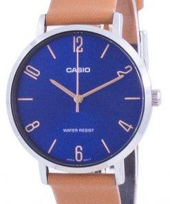 Casio Blue Dial Leather Strap Quartz LTP-VT01L-2B2 LTPVT01L-2B2 Women's Watch