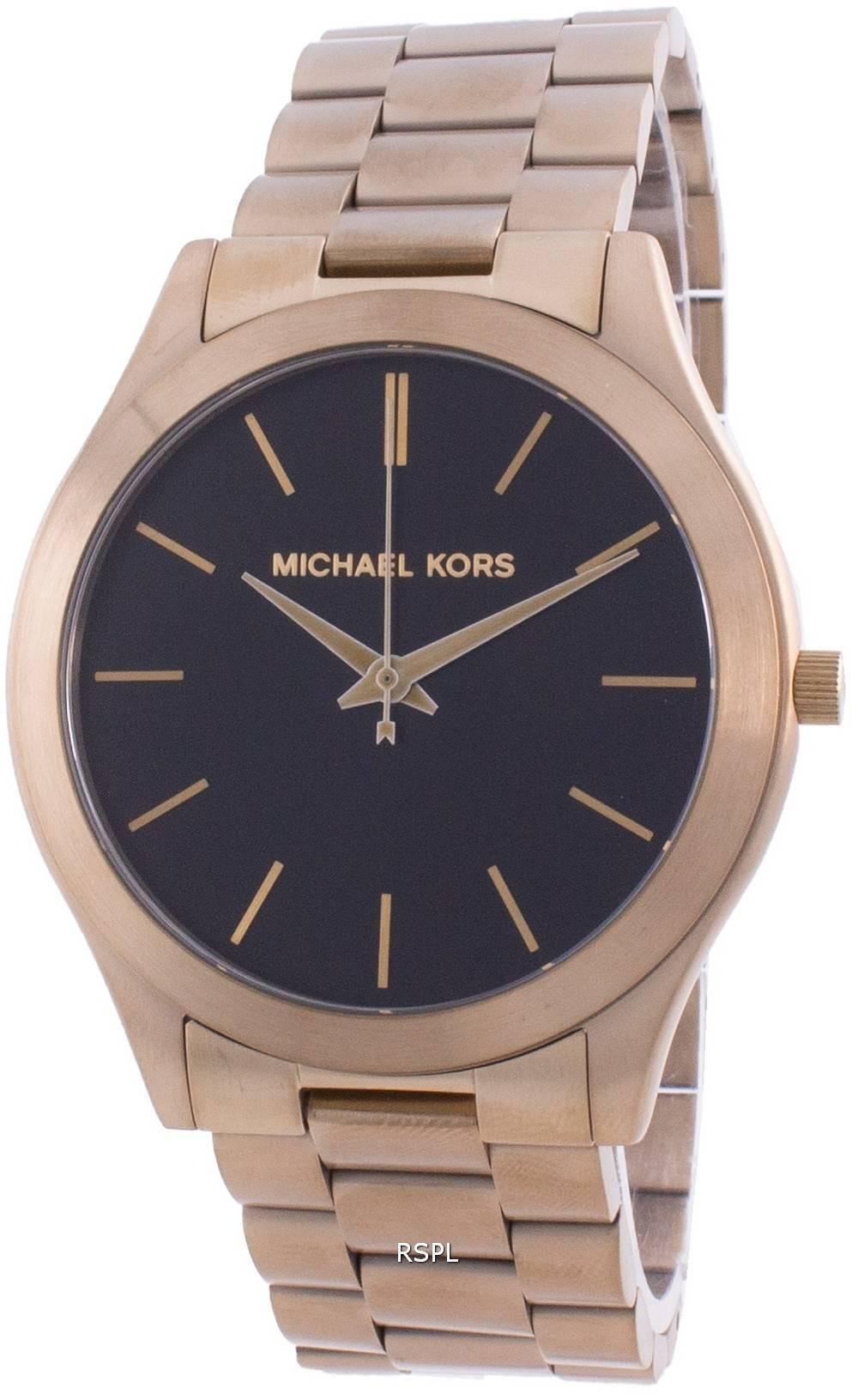 Michael Kors Slim Runway Black Dial Quartz MK8795 Men's Watch