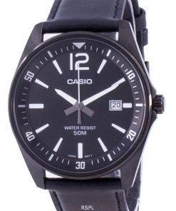 Casio Black Dial Leather Strap Quartz MTP-E170BL-1BV MTPE170BL-1BV Men's Watch