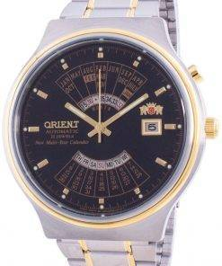 Orient Multi Year Calendar Perpetual World Time Automatic FEU00000BW Men's Watch