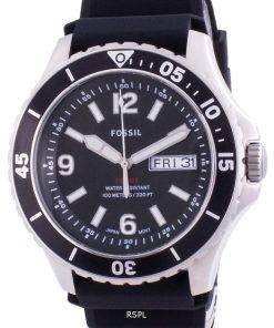 Fossil FB-02 Black Dial Silicone Strap Quartz FS5689 100M Men's Watch