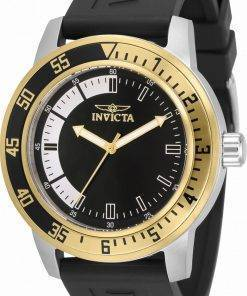 Invicta Speciality Black Dial Silicone Strap Quartz 34097 100M Men's Watch