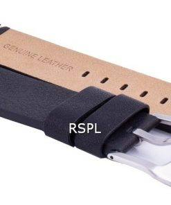 Ratio LS20 Black Leather Strap 22mm