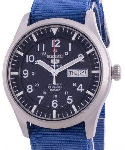 Seiko 5 Sports Blue Dial Automatic SNZG11K1-var-NATO8 100M Men's Watch