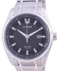 Citizen Super Titanium Black Dial Eco Drive AW1240-57E 100M Mens Watch