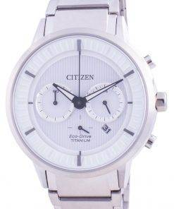 Citizen Super Titanium White Dial Eco Drive CA4400-88A 100M Mens Watch