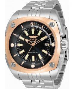Invicta Reserve Black Dial Stainless Steel Automatic 32060 100M Mens Watch