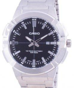 Casio Analog Black Dial Stainless Steel MTP-E172D-1A MTPE172D-1 Mens Watch