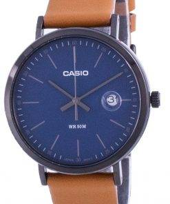 Casio Analog Blue Dial Leather Strap MTP-E175BL-2E MTPE175BL-2 Mens Watch