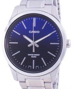 Casio Analog Blue Dial Stainless Steel Quartz MTP-E180D-2A MTPE180D-2 Mens Watch