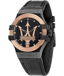 Maserati Potenza Black Dial Quartz R8851108032 100M Mens Watch