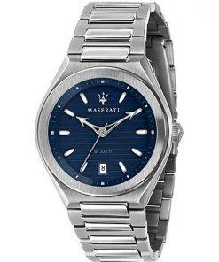 Maserati Triconic Blue Dial Quartz R8853139002 100M Mens Watch
